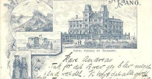 Fano Vesterhasbad 1898 Danmark Postkort Billeder