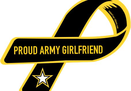 Custom Ribbon: PROUD ARMY GIRLFRIEND