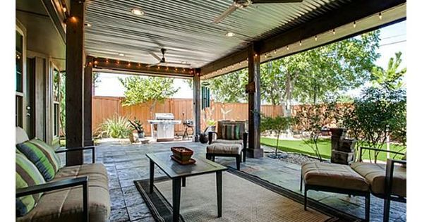Tin Roof Covered Patio Home A Place To Go Outdoors