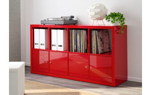 Kallax shelving unit high gloss red pain the cabinet - Ikea ps armario ...