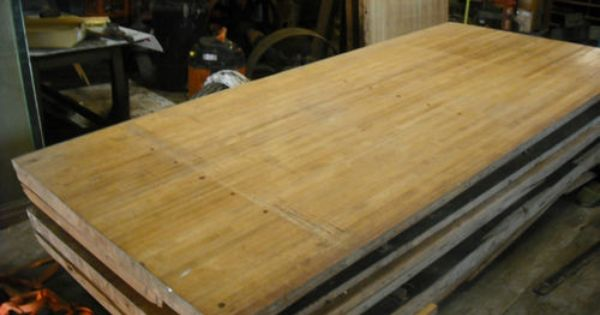 Butcher Block Counter Top Bowling Alley Lane Lumber Maple 8 Foot X