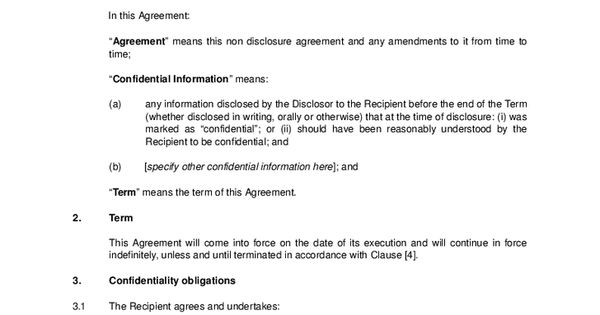 This Free Non Disclosure Agreement NDA Is Simplicity