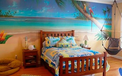 Surf style girl bedroom google search surfer girl for Hawaiian themed bedroom designs