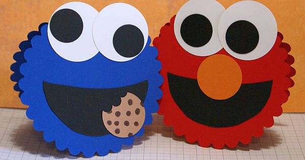 Elmo and cookie monster cards card ideas pinterest for Elmo arts and crafts