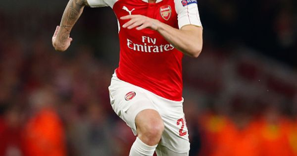 Hector Bellerin Of Arsenal Runs With The Ball During The