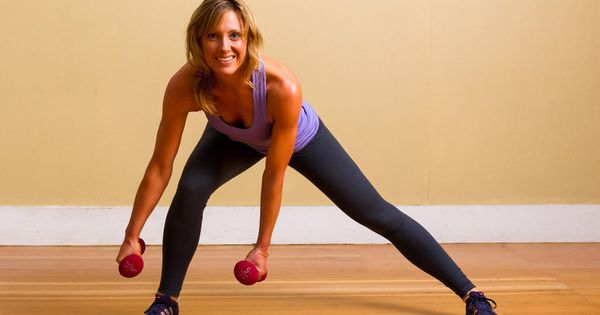 Lunging to the side is an excellent way to work your glute
