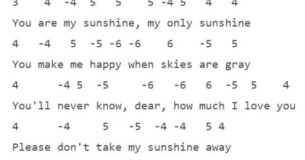 You Are My Sunshine Wildflower Harmonica Instruction With