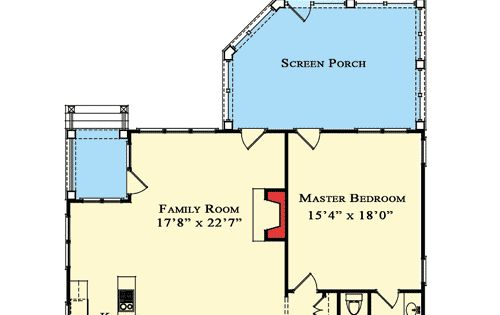Plan w70010cw country narrow lot cottage northwest for Narrow corner lot house plans