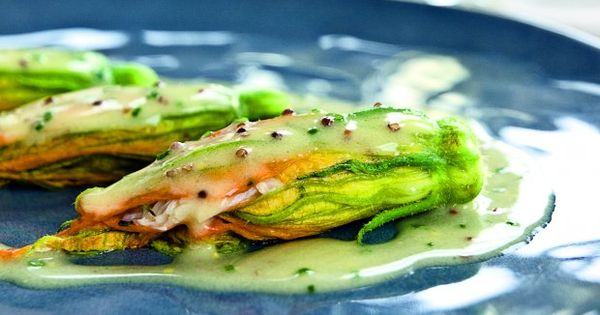 Crab-Stuffed Zucchini Flowers | Recipe | Squash Blossom, Crabs and ...