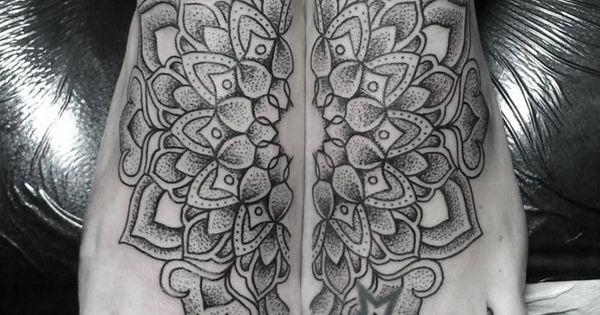 foot mandala tattoo I've been really wanting something like this lately.