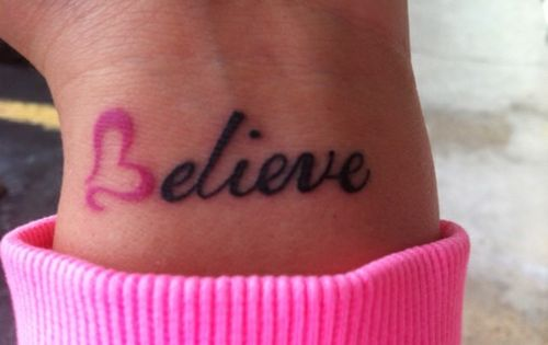 Believe Tattoo Idea