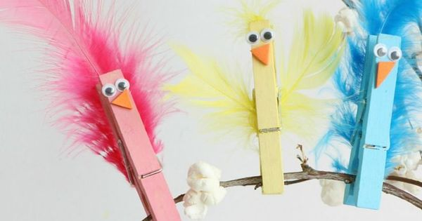 clothespin bird craft idea for kids crafts pinterest