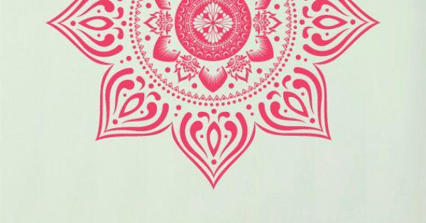Large Bohemian Mandala Decal for Living Room Dorm by ZestyGraphics