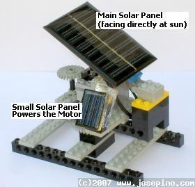 Lego Solar Tracker Small Solar Panels Homemade Generator