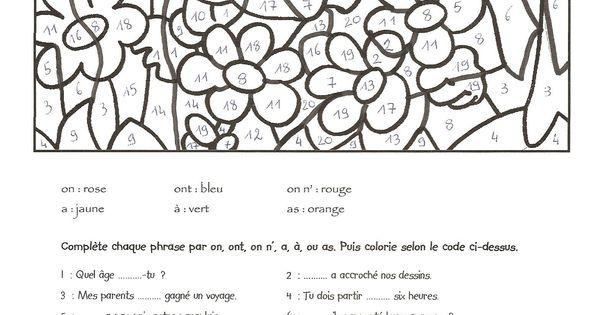 Coloriage magique passe pr sent futur coloriages for Apprendre multiplication en jouant