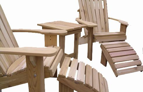 2 Adirondack Chairs 2 Ottoman S And 1 End By