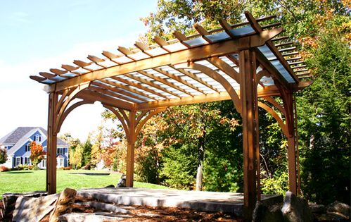 Pergola With Acrylic Panels Asked To Create An Outdoor