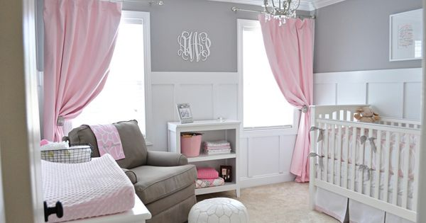 baby girl room ideas pink and grey | Ava's Sweet Gray and