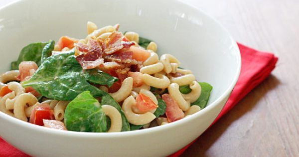BLT Macaroni Salad | Dads like bacon so I thought a bacon,