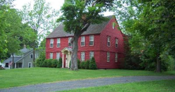 Two Story Colonial With Red Vinyl Siding Similar To