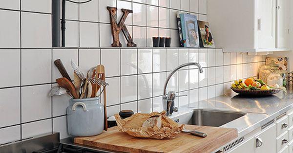 Kitchen keuken pinterest interieur keuken en witte tegels - Onderwerp deco design keuken ...