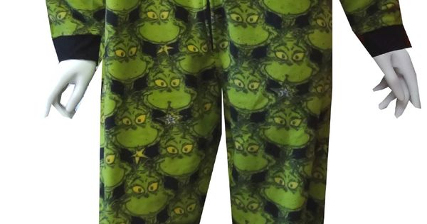Dr Seuss Wicked Grinch Onesie Footie Pajama Grinch