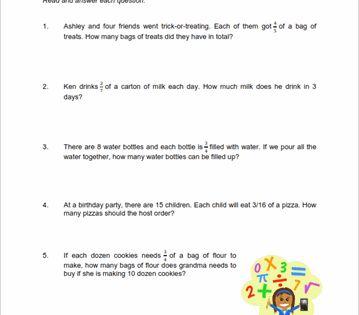 Grade 4 Word Problems Worksheet Word Problem Worksheets Multiplying Fractions Word Problems Fraction Word Problems