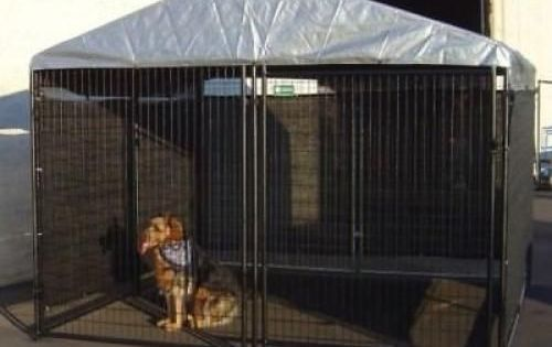 Big Dog Kennel Cage Pet Wind Screen Extra Large Outdoor Heavy Duty Portable Unbranded Puppycratesextralarge Dog Kennel Cover Big Dog Kennels Dog Kennel
