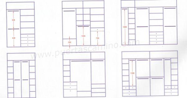 Variedad de distribuciones a medida para interiores de - Medidas de un armario ...