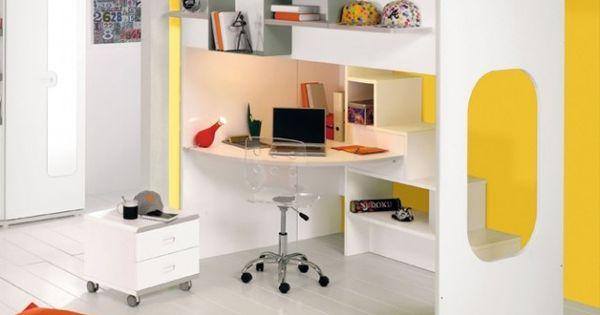 lit mezzanine design gautier chambre anna pinterest lits mezzanine mezzanine et lits. Black Bedroom Furniture Sets. Home Design Ideas
