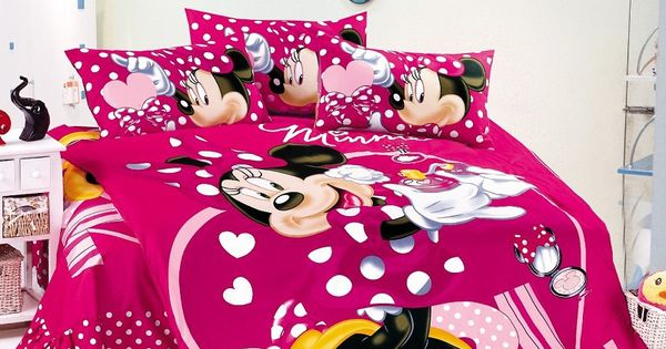 Minnie-mouse-bedding-sets-Girls-Twin-full-size-Bedding-font-b-kids ...