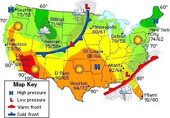 weather map example weather nut pinterest weather maps and symbols. Black Bedroom Furniture Sets. Home Design Ideas
