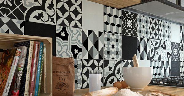 carreau de ciment belle poque d cor emy gris noir et blanc x cm leroymerlin. Black Bedroom Furniture Sets. Home Design Ideas