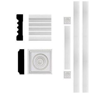 3 4 In X 3 In X 8 Ft Mdf Fluted Door Casing Set 4300 Door Casing Coffered Ceiling Window Molding