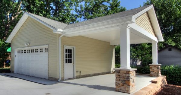 Garage With Covered Patio : Adding a carport to an existing garage ideas