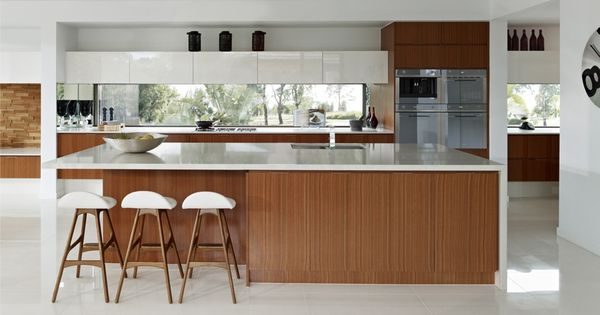 Spotted gum veneer laminex kitchen pinterest for Scandinavian design reno