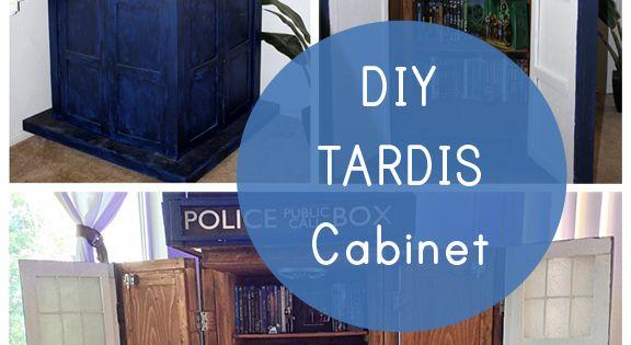 Geek Decor Diy Tardis Bookshelf Cabinet Our Nerd Home Pinterest Tardis Bookshelf And Tardis