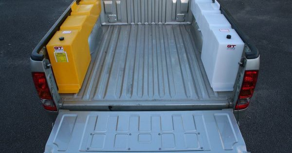 Water And Diesel Storage 70 Litres Each Truck Accessories Truck Camping Truck Bed Storage