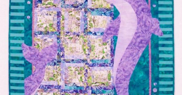 Java House Quilts Purple Dolphins Majesty Quilt Patterns