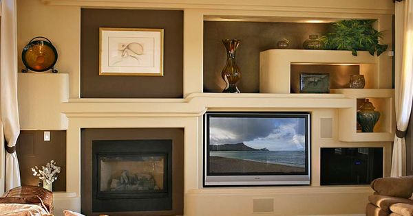 Custom Drywall Entertainment Centers Guesswork With