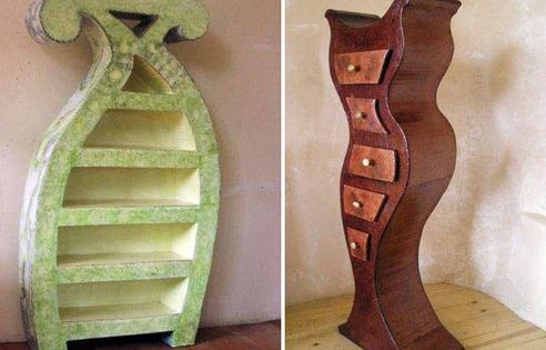 Whimsical furniture made from recycled cardboard beauty for Beauty and the beast table and chairs