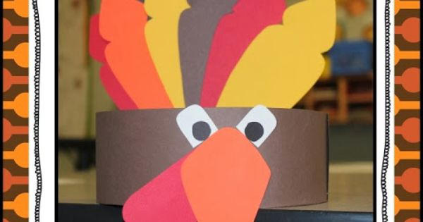 BME Turkey Hats - this is a cute idea--the kids would love