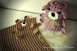Baby Love crochet pattern Un-Bear-Ably Cuddly Afghan
