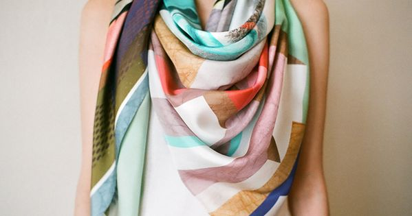 Summer/ spring scarf, can wear in winter if worn with dark colors.