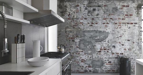 papier peint imitation bois pierre et b ton qui invite la. Black Bedroom Furniture Sets. Home Design Ideas
