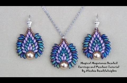 Magical magatamas beaded earrings and pendant tutorial for Same day jewelry repair