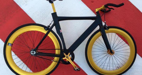 Bicicleta Fixie Nologo Black Gold 2016 Fixie Bici Fixie Fixie Bicicletas