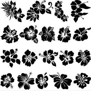 Image Detail For Free Download Decorative Orchids Vector Free Download Vector Art Hibiscus Flower Tattoos Flower Silhouette Hibiscus Tattoo