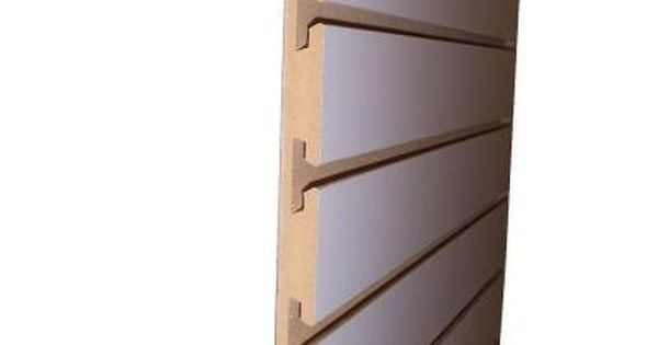 3 4 In X 24 In X 8 Ft White Slatwall Melamine Board 663765 At The Home Depot Slat Wall Wood Slat Wall Home Depot