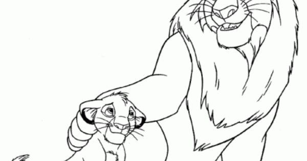 Dibujo De Cachorro De León Para Colorear: Dibujo De Un León Y Su Cachorro